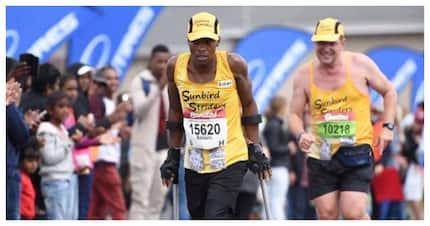 The amazing story of Xolani Luvuno who finished marathons on crutches