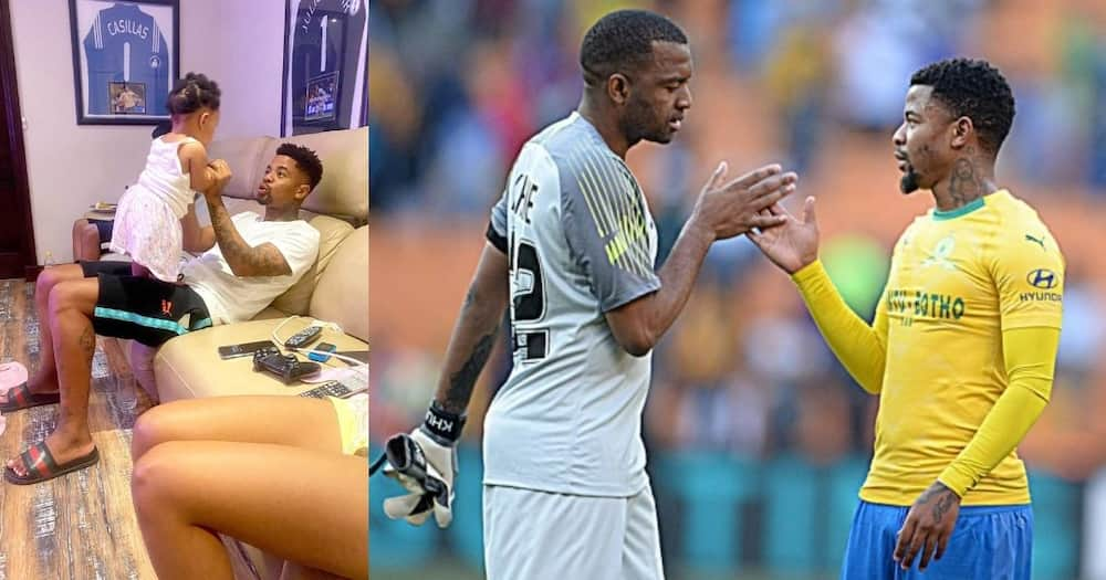 """Khune posts adorable snap of """"uncle"""" George Lebese with his daughter"""