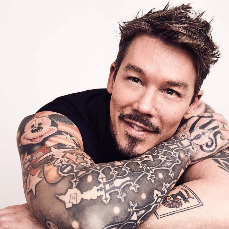 Are David Bromstad's tattoos permanent?