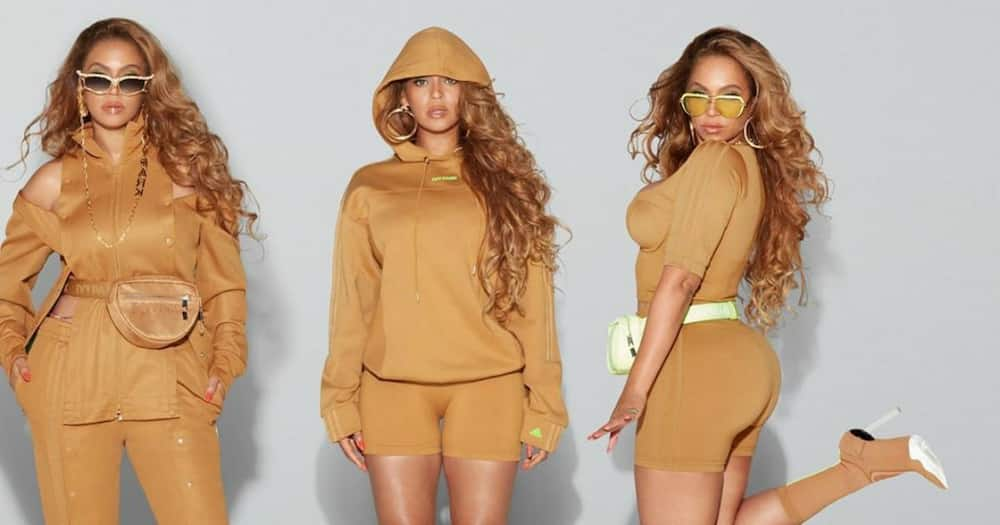 Beyonce puts her iconic curves on display while modeling new IVY Park pieces