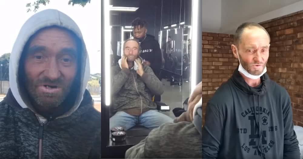"""Angel sent from God"": BI gives homeless man makeover and job"