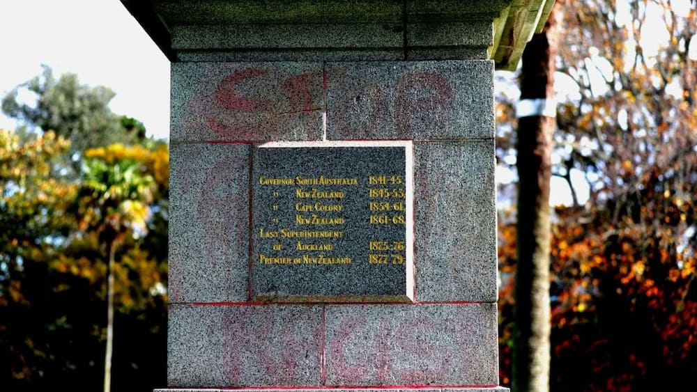 Sir George Grey's statue in New Zealand vandalised, smeared with red paint