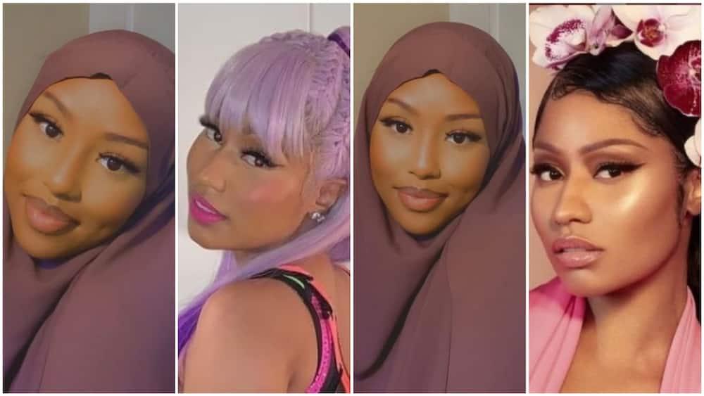 Photos of Nigerian girl who looks like Nicki Minaj surface on the internet