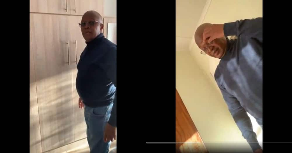 Lol: Daughter records her dad looking for her hidden whiskey bottle