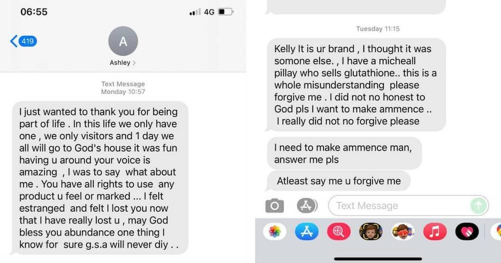 Kelly Khumalo, skin