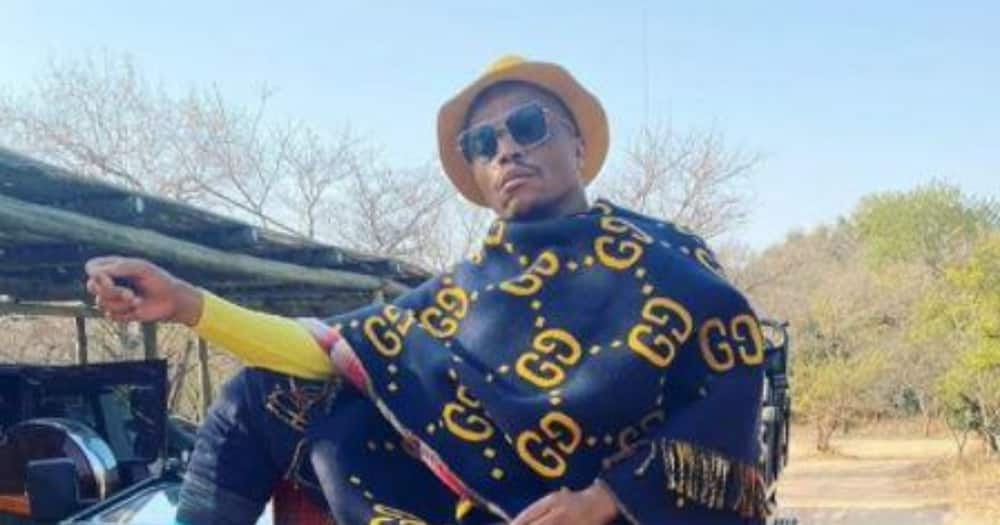 Somizi Mhlongo's daughter reacts to her father's glamorous outfit