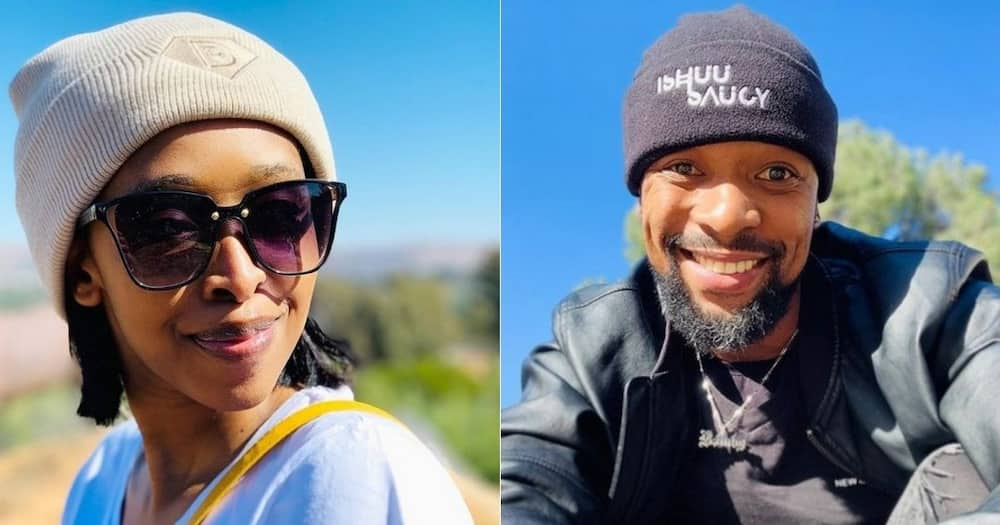 SK Khoza, fiancée Ayanda Hlongwane, posts snaps, not wearing, her engagement ring