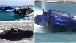 3 Friends produce car that can drive on water using local materials, video goes viral