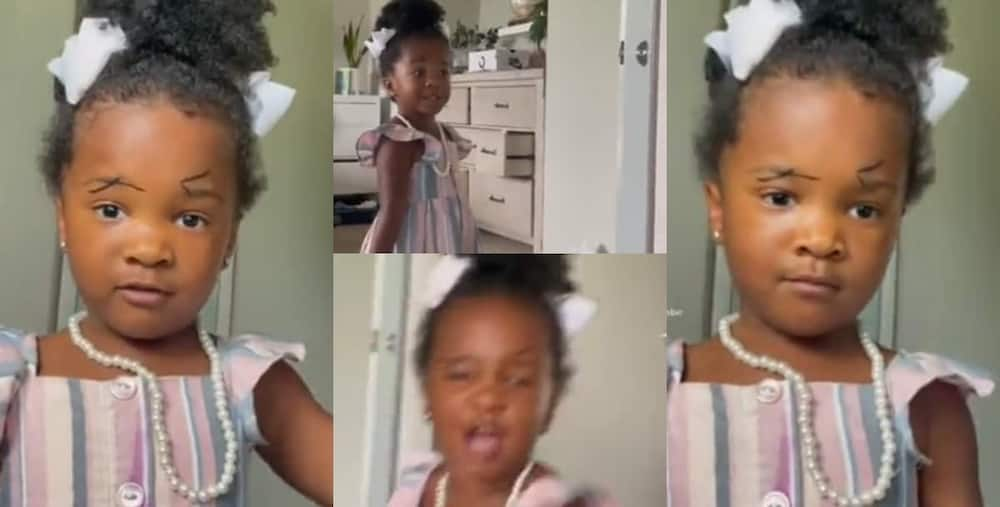 Little girl screams in hilarious video after finally watching her own makeup in mirror