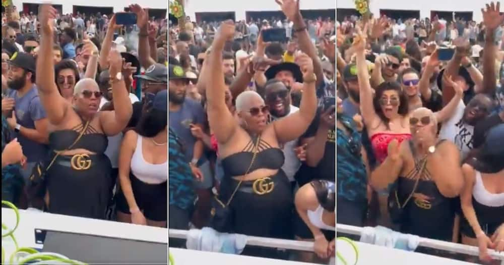 A South African woman is a hit on social media after dancing to DJ Black Coffee's songs in the United States. Image: @RealBlackCoffe/Twitter