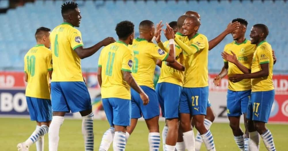 Mamelodi Sundowns have clinched their fourth league title in a row. Image: @Masandawana/Twitter