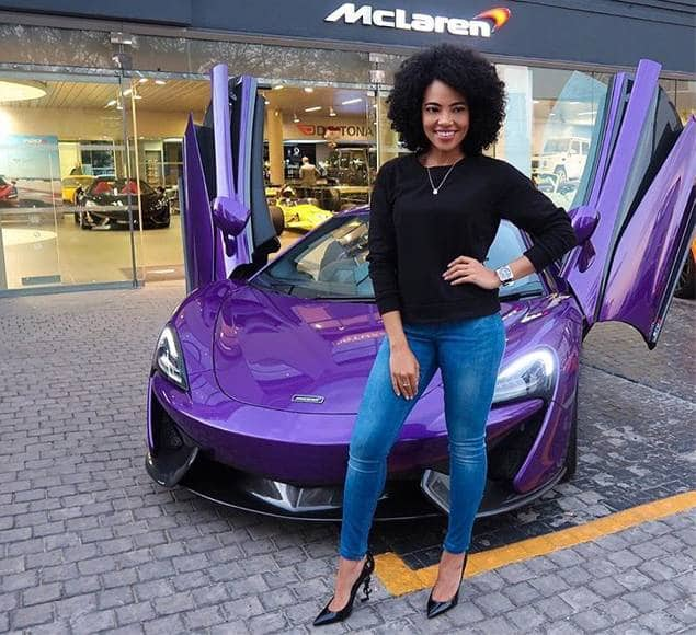 South Africa female celebrities with expensive cars