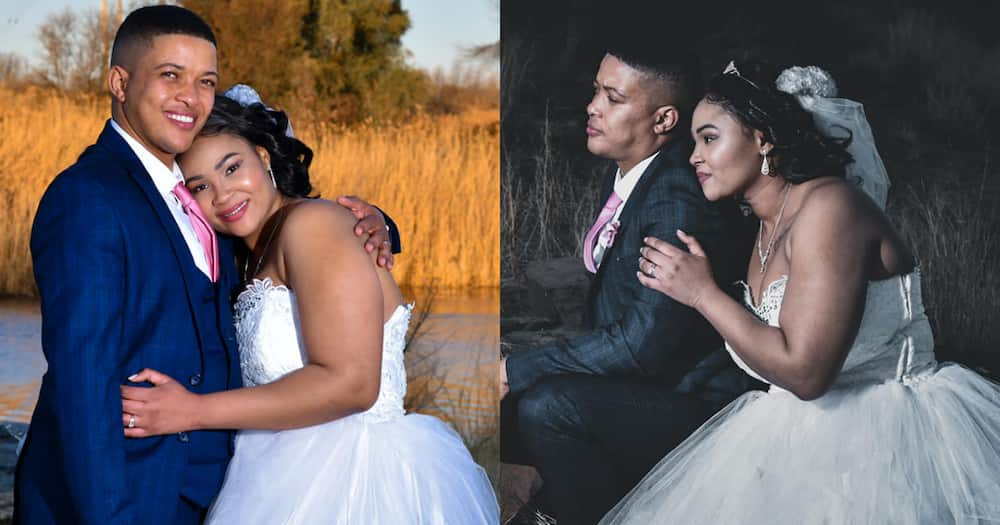 Mzansi couple wow the internet with pics of lockdown wedding