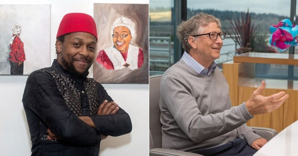 EFF leader Mbuyiseni Ndlozi has shared a video of Bill Gates explaining the internet 25 years ago. Image: @MbuyiseniNdlozi/@thisisBillGates/Instagram