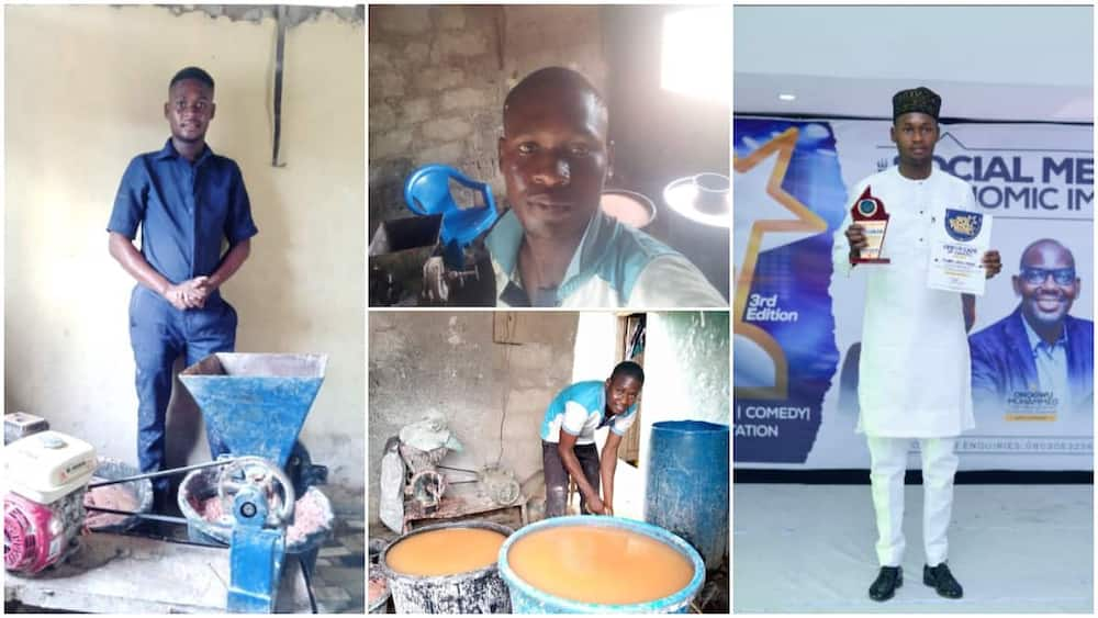 Young man suspends going to school to focus on his pap-making business, gives reasons