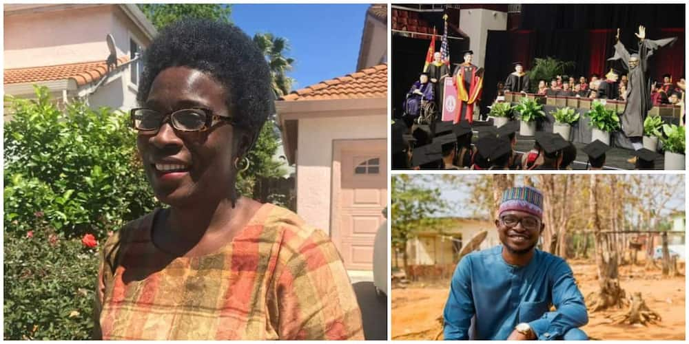 Nigerian Man Celebrates His Mum who Hawked Boiled Corn Everyday to Fund his Education, He Finished from US
