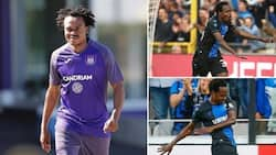 """Club Brugge takes a dig at Percy Tau, South Africans react: """"Eish"""""""