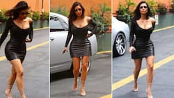 """""""Flawless"""": Stunning woman recreates Kim K's leather outfit, SA wowed"""
