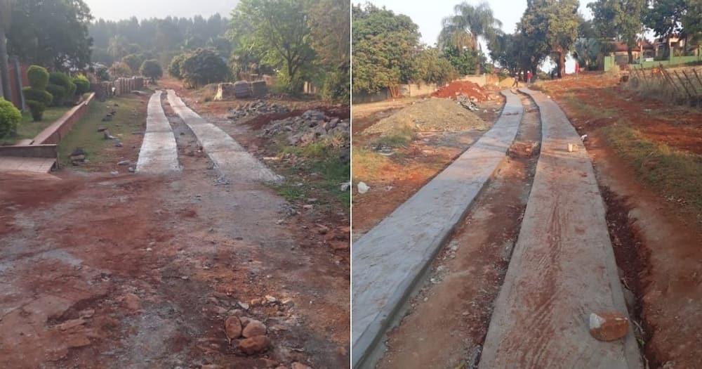 roads, construction, infrastructure, community, united, village