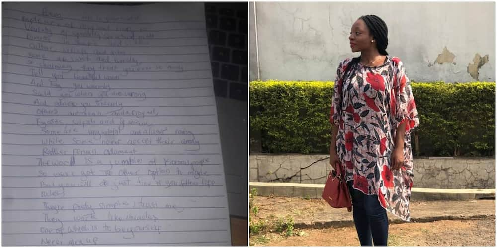 Brilliant Nigerian Girl Surprises Her Female School Teacher with a Beautiful 'Personal' Poem