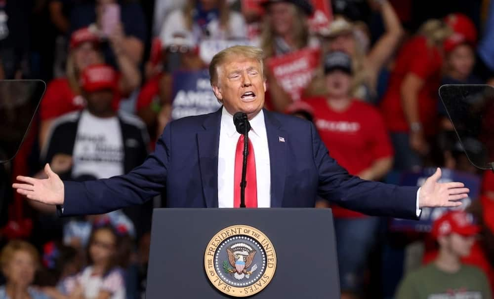 President Donald Trump speaks at a campaign rally in Tulsa, Oklahoma. Photo by Win McNamee