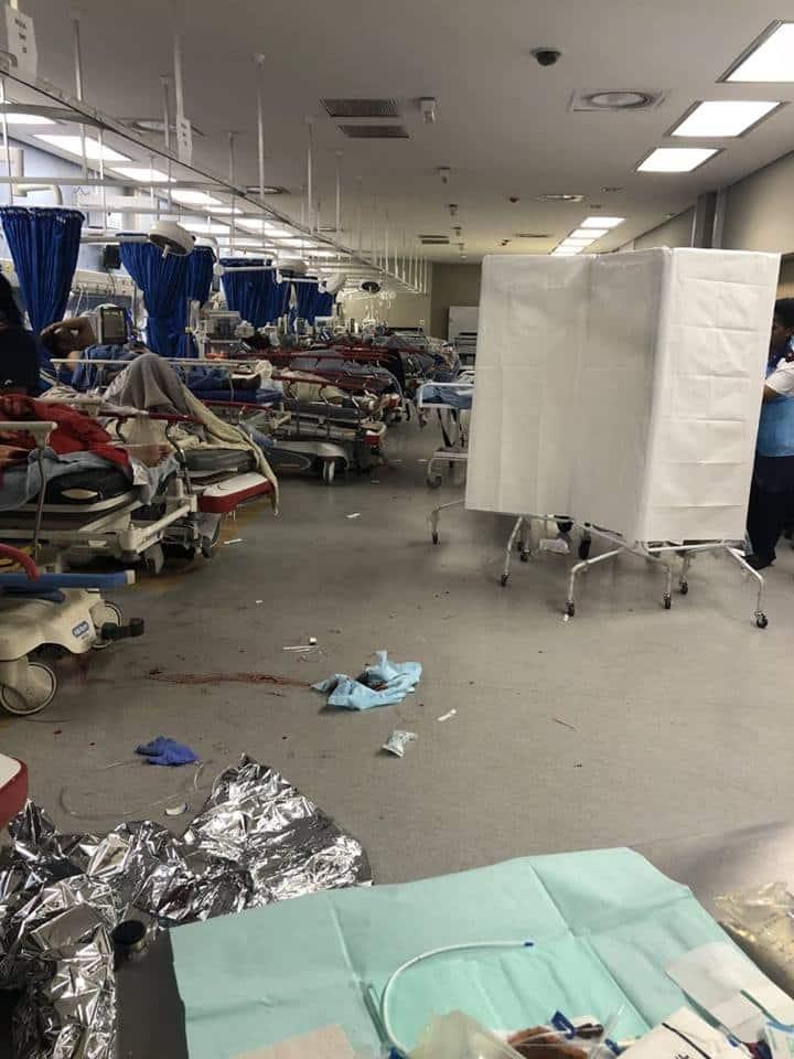 Photo shows the horrific conditions of the Chris Hani Hospital's trauma ward