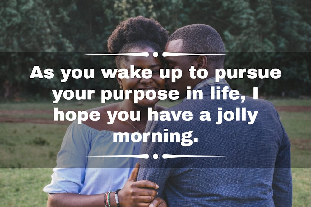 What are sweet things to say to your girlfriend in the morning?