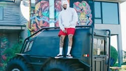 Kanye West gifts Chris Brown tank-like vehicle & peeps can't deal