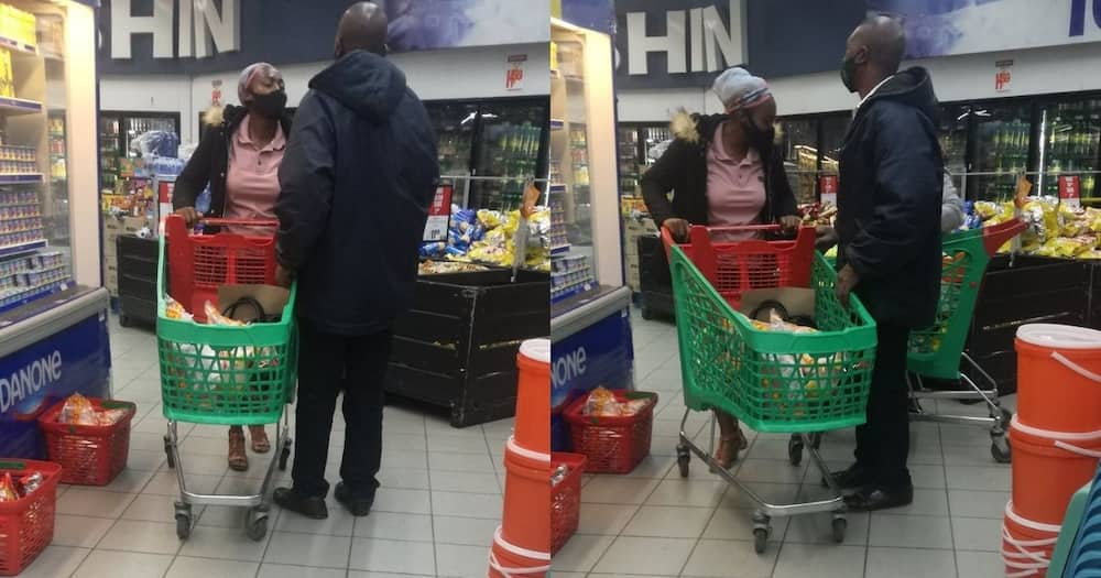 Lady unimpressed with man trying to 'shela' her mom
