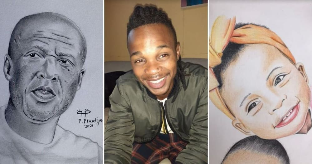 Young Artist, 23, Taught Himself How to Draw, Makes a Living Selling Portraits