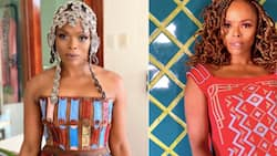 Unathi rocks her mother's favourite hairstyle, stunning in Bantu knots