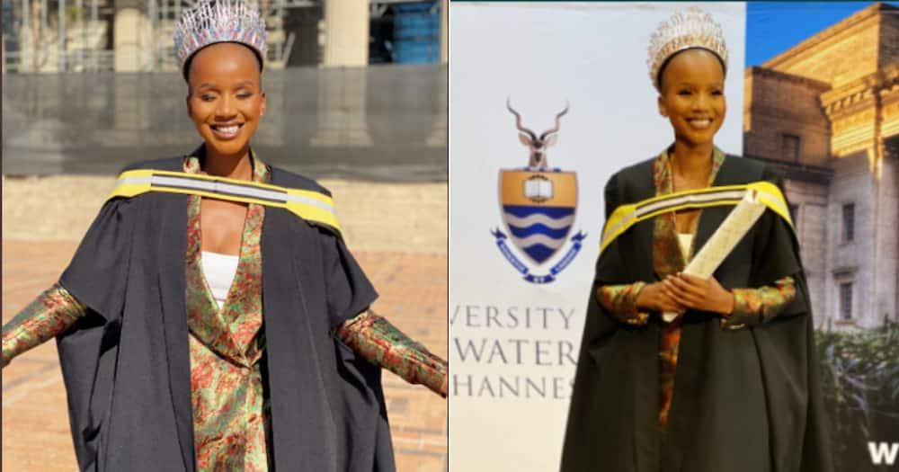 Miss SA, Shudufadzo Musida, Graduates, Wits University, Graduation, BA Honours degree in International Relations, Vice-Chancellor, Principal, Professor Zeblon Vilakazi