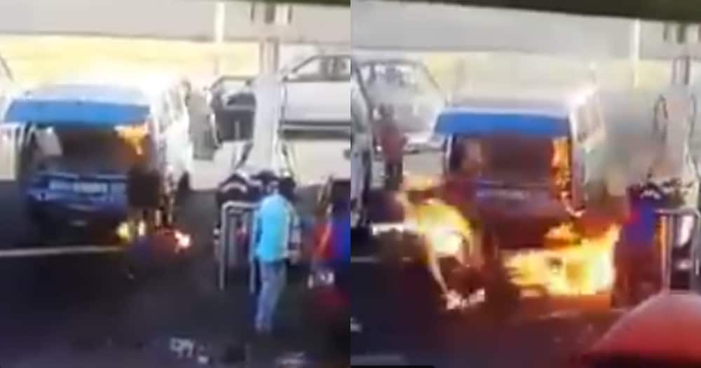 Taxi fire leaves a trail of disaster at gas station