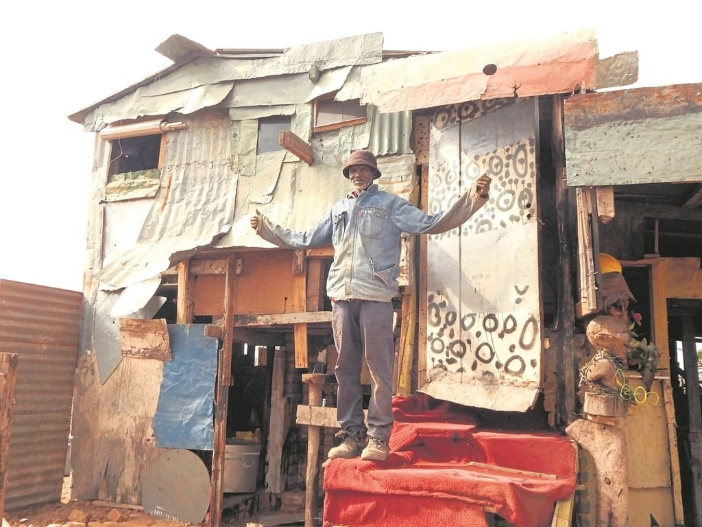 Kasi man, 60, claims he lives like a king in his double-storey shack