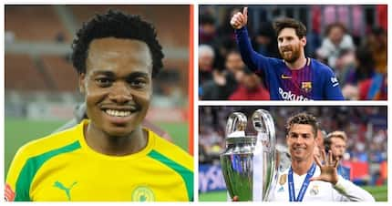 Percy Tau wants to face Lionel Messi and Cristiano Ronaldo regularly