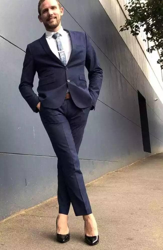 Ashley wears stilettos to work three times a week. Source: news.com.au