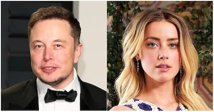 On-again, off-again: Amber Heard and Elon Musk pictured together in Chile