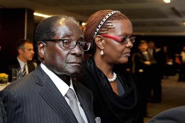 Former Zimbabwean first couple Robert and Grace Mugabe. Source: Google