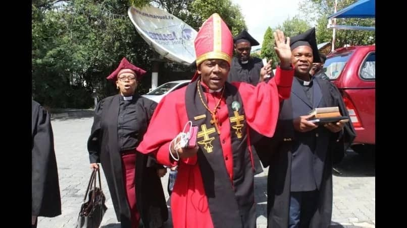 """Bishop Makiti is to be ordained as """"Pope of Africa."""" Source: Citizen.co.za"""