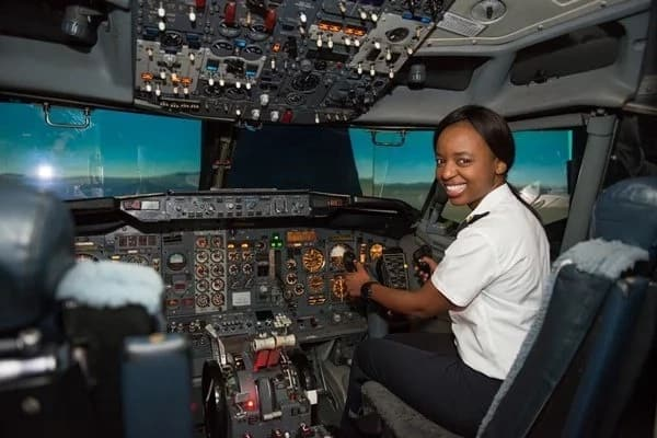 Noni Radebe pictured inside a jumbo jet. Source: Citizen.co.za