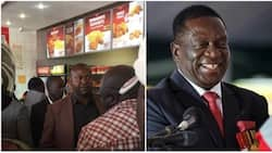 Presidents have to eat too: Emmerson Mnangagwa stops motorcade to queue for fried chicken