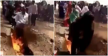 Video shows pastor training his congregation to walk through hell and sneak into heaven