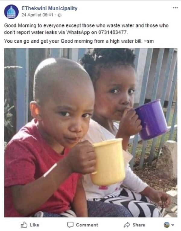 South Africans fire shots at municipality over its 'unprofessional' social media post