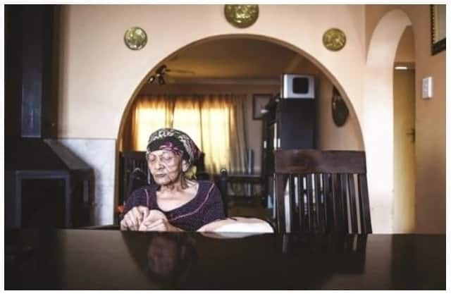 Ouma Mooloo is the oldest person living in Eersterus at 109-years-old. Photo source: Jacques Nelles