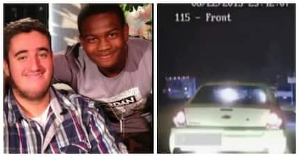 Two young men spot good looking girl in car, but then she mouths 'help me'
