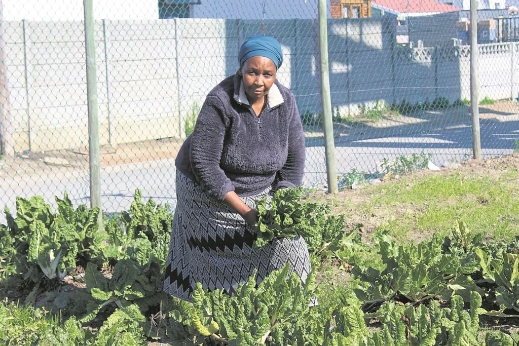 Lizzy Mathiso pictured at her garden. Source: Daily Sun/Velani Ludidi