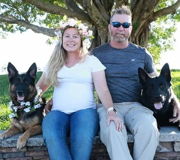 The couple and their two dogs. Source: Parent24.com