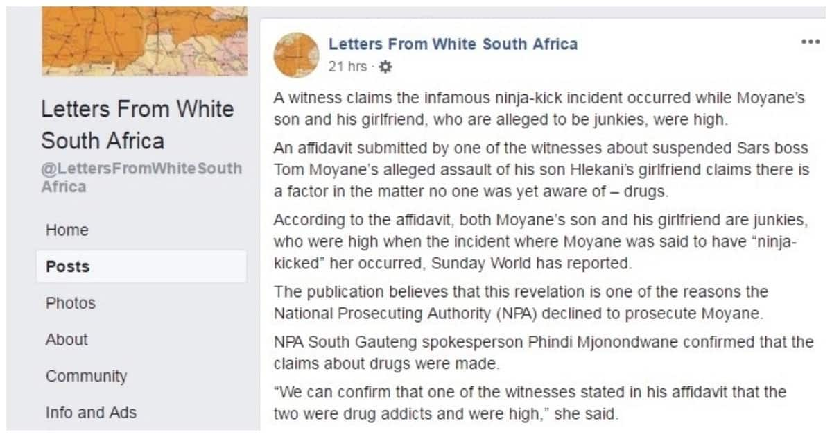 Tom Moyane's son and his girlfriend are allegedly drug junkies