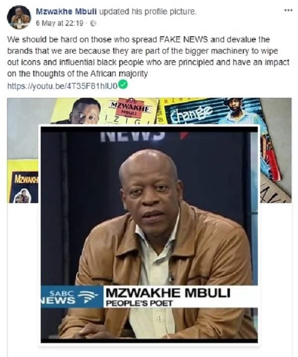 Mzwakhe Mbuli is taking Google to court after they labelled him HIV positive