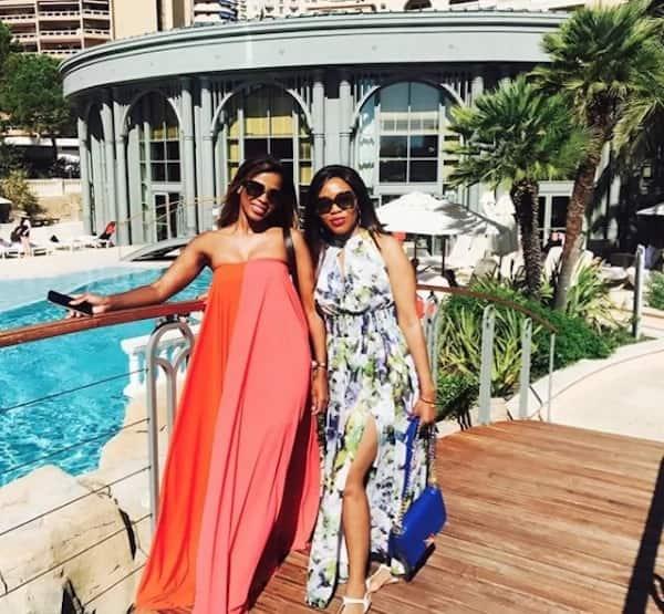 Thembeka and a friend. Source: ZAlebs